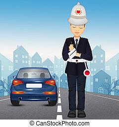 policía, ilustración
