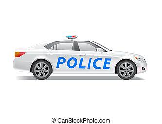 policía, patrullero