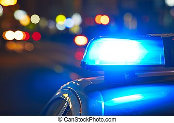 policía, sirena