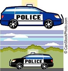 policía, vehículo