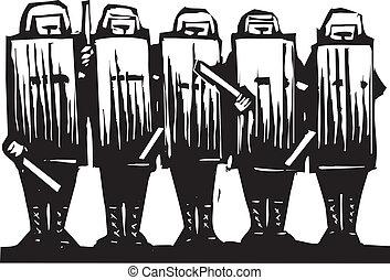 police, émeute