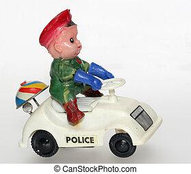 police, étrange, voiture