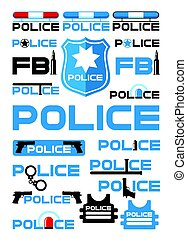 Police And Justice Logotypes Set