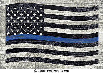 Police and Law Enforcement Flag - A police law enforcement...