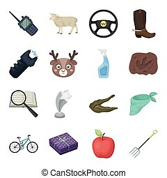 Police, animals, sports and other web icon in cartoon style.Cleaning, detective, rodeo icons in set collection.