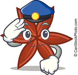 Police anise character cartoon style