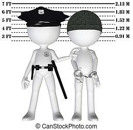 Police arrest criminal cop perp crime justice mugshot -...