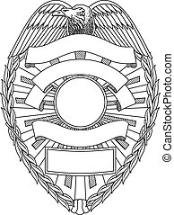 Police Badge Blank is an illustration of a police or law ...