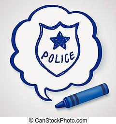 police Badge doodle