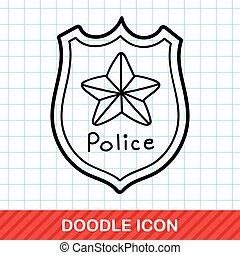 police badge doodle