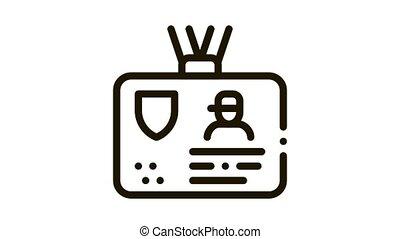 police badge Icon Animation. black police badge animated icon on white background