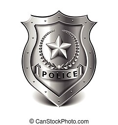 Police badge isolated on white vector