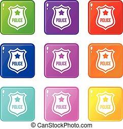 Police badge set 9