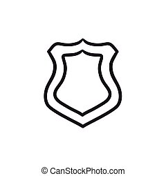 Police badge sketch icon.