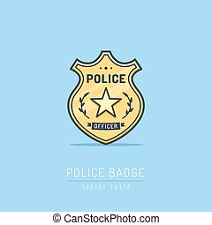Police Badge - Police badge simple vector illustration in...