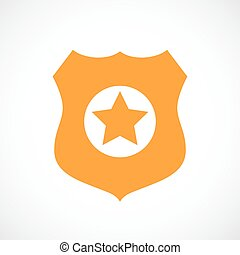 Police badge vector icon illustration