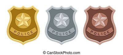 Police badges set