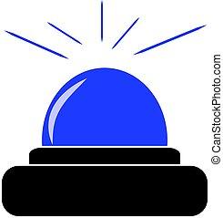 Police beacon isolated on white background