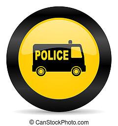 police black yellow web icon
