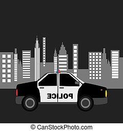 police car city background design