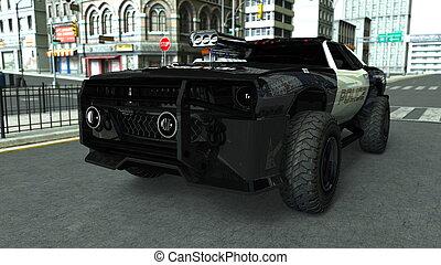 police car - image of police car