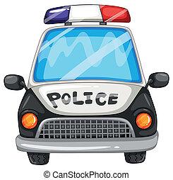 Police car - Illustration of a closeup police car