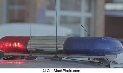 Police Car Flasher with red and blue light.
