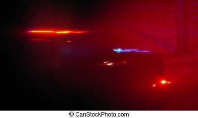 Police Car Flashing Lights Abstract