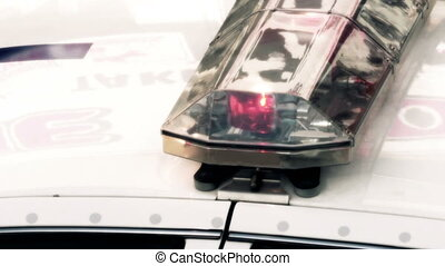 Police car flashing lights - clean version - 4K UHD -...