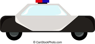 Police car flat, illustration, vector on white background.