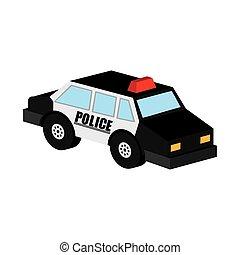 police car icon design