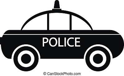 Police car icon on white background. Vector illustration.