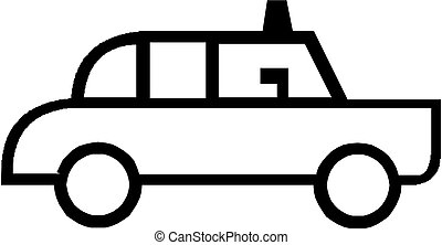 police car icon vector illustration