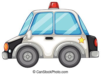 Police car - Illustration of a close up police car