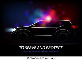 Police Car Lights Background