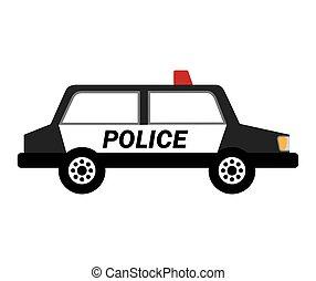 police car patrol icon