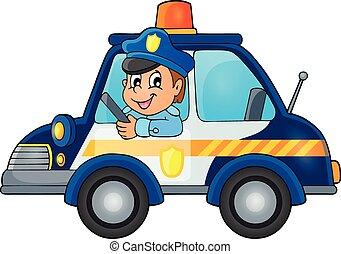 Police car theme image 1 - eps10 vector illustration.