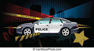 police car - vector illustration - A Vector .eps 8...