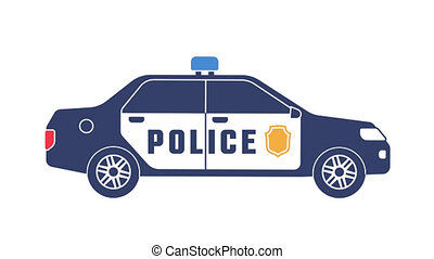 Police car with flashing lights icon