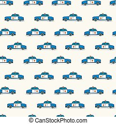 Police cars pattern