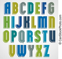 police, cas, coloré, lettres, outline., comique, supérieur, dessin animé, blanc