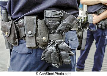 police, ceinture