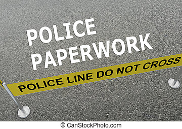 police, concept, paperasserie