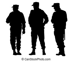 Police cordon - People of special police force on white ...