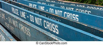 police, croix, fond, york, nypd., pas, nouveau, ligne, manhattan