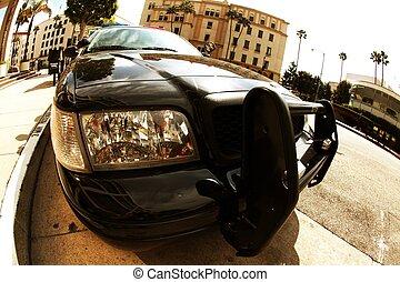 Police Cruiser - American Police Cruiser - Beverly Hills,...