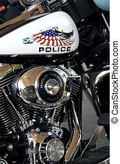 police, détail, motocyclette