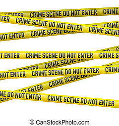 Police danger tape - Realistic yellow danger tape with Crime...