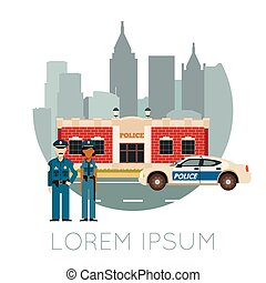 Police Department Banner10 - Vector image of the Police...