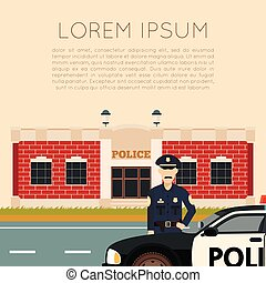 Police Department Banner5 - Vector image of the Police...